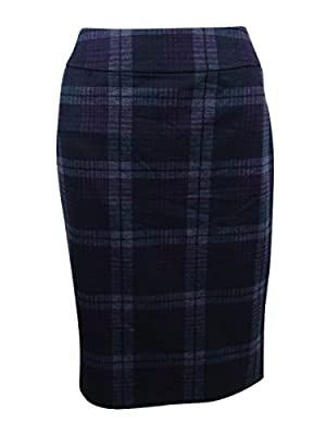 Nine West Women's Plaid Slim Skirt