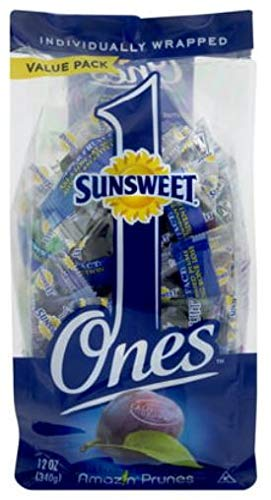 Sunsweet Individual Pitted Prunes Value Pack, 12 oz- Pack of 4 by Sunsweet