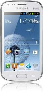 """Samsung S Duos (S7562) - Smartphone libre (pantalla táctil de 4"""" 480 x 800, cámara 5 Mp, 4 GB, procesador de 1 GHz, 768 MB de RAM, S.O. Android 4.0), blanco (importado)"""