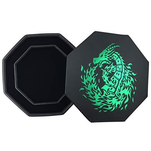 Fantasydice- GREEN- Fire Dragon - Dice Tray - 8