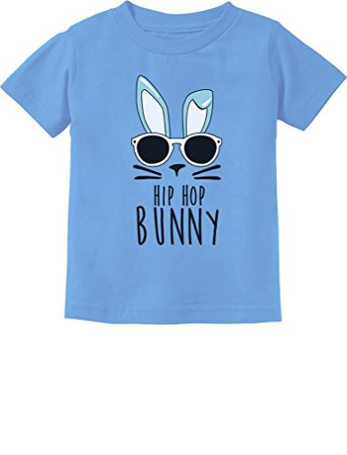 (TeeStars - Hip Hop Bunny Funny Gift for Easter Toddler/Infant Kids T-Shirt 4T California Blue)