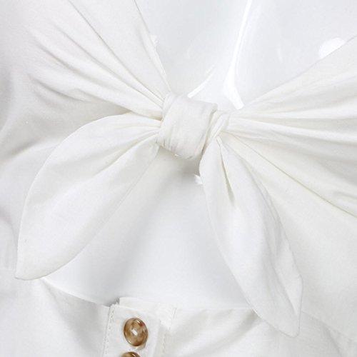 Abito da Vestito farfalla Bianco donna Rcool Sexy a fiocco con 2018 tIUTtx