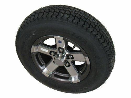 Loadstar ST185/80D13 LRD Bias Trailer Tire & Wheel HiSpec Series 07 Gunmetal 5-4.5 -