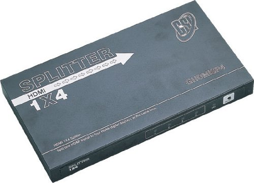 GSI GHDMISP4 - HDMI High Definition 4-Way Video Distributor Splitter (Discontinued by Manufacturer)