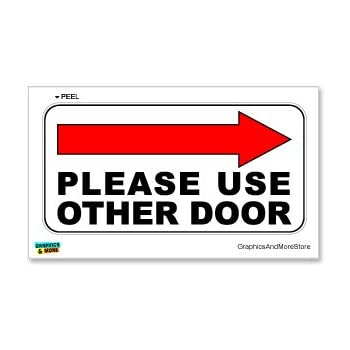 photograph relating to Please Use Other Door Signs Printable named : You should Retain the services of Other Doorway Instantly Arrow - Business office