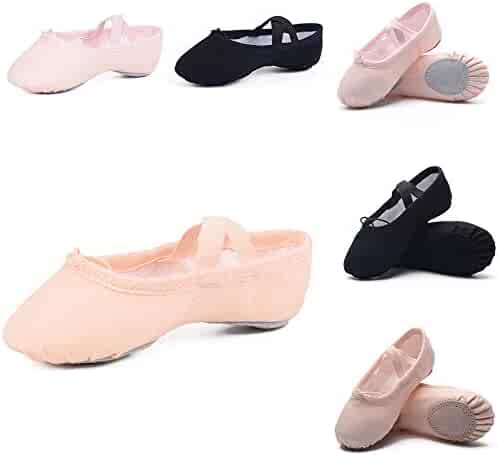 Ruqiji Ballet Shoes for Girls/Toddlers/Kids/Women, Canvas Ballet Shoes/Ballet Slippers/Dance Shoes, Better Fit