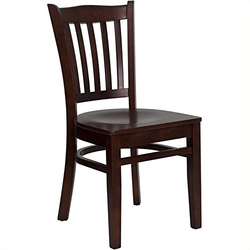 European Beechwood Frame (Flash Furniture HERCULES Series Vertical Slat Back Mahogany Wood Restaurant Chair)