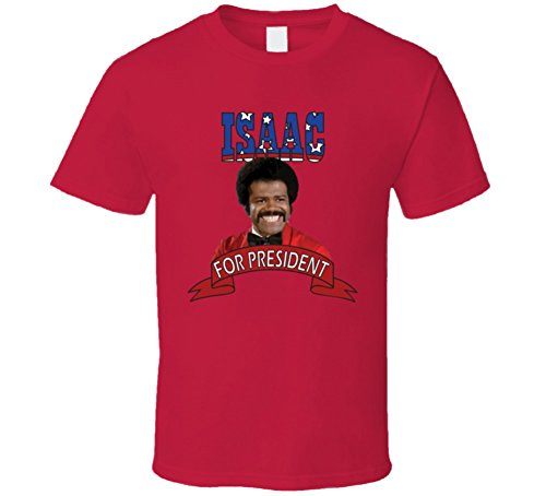 Isaac Washington For President Love Boat Fan Elections Parody T Shirt 2XL Red -