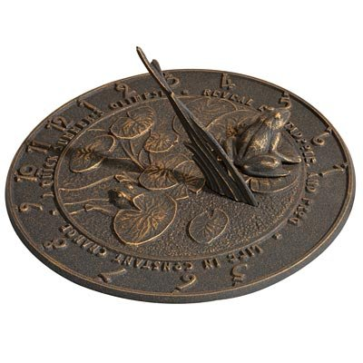 Whitehall Products Frog Sundial, Oil Rub Bronze