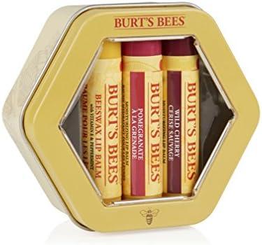 Burt's Bees, set di tre burrocacao per labbra, ideale come regalo