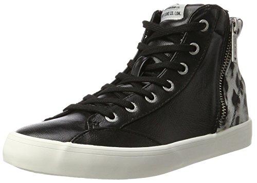 Pepe Jeans London Damen Clinton Sue Hohe Sneaker Schwarz (Black)