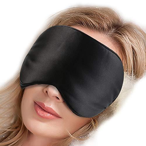Pure Silk Sleep Mask Side Sleepers Nose Pad No Wrinkles,Adju