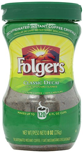 Folgers Instant Decaf Coffee, 8 oz