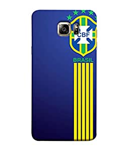 ColorKing Football Brazil 20 Blue shell case cover for Samsung S6 Edge Plus