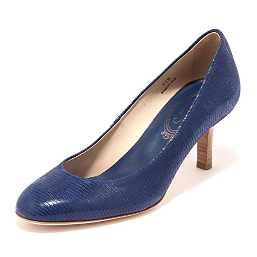 Cuoio Tod's T Shoes Decollete Scarpa 65 85887 Donna Qu Women blu Blu BOxtwqO