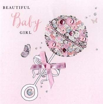 Beautiful BABY GIRL card by Second Nature HBU029