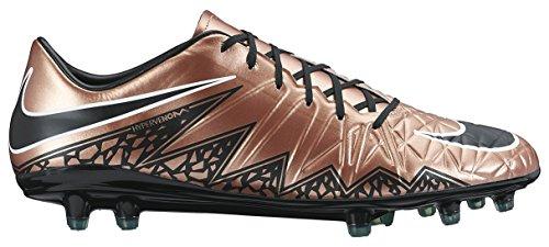Nike Mens Hypervenom Phatal Ii Fg Voetbal Cleat Rood Brons / Groen Glow / Zwart