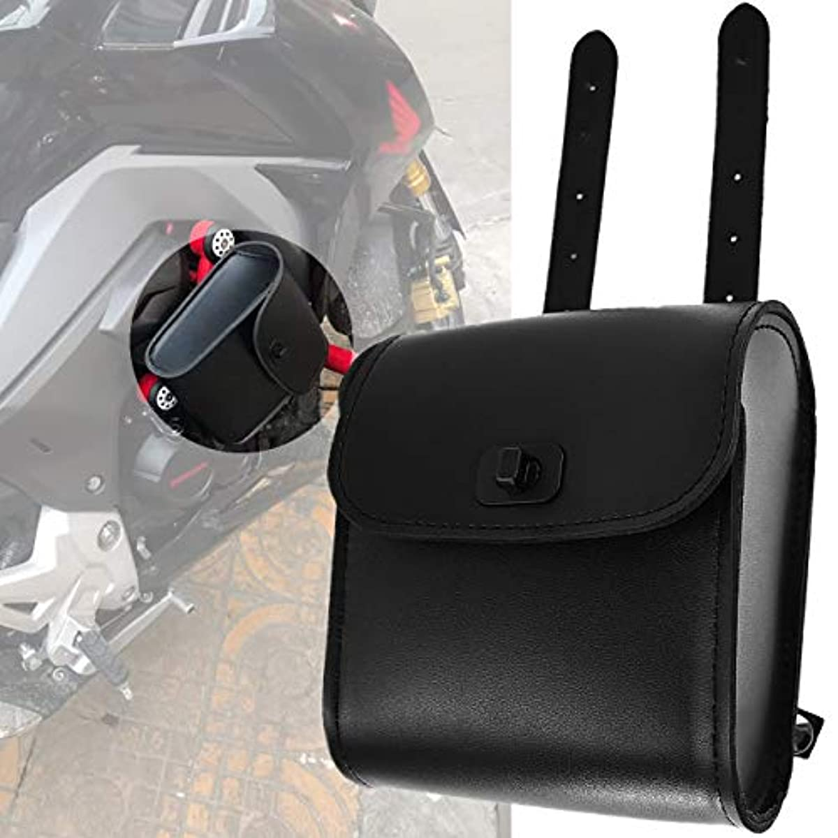 [해외] YHMTIVTU 오토바이 미니 싸이드 화이트 툴 화이트 부속품 상자 범용 HARLEY HONDA YAMAHA SUZUKI에 적용