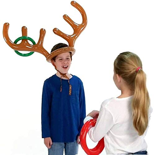 HANTAJANSS Ring Toss Game Reindeer Antler Inflatable Christmas