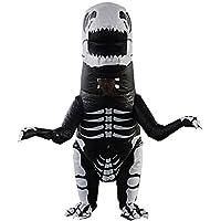 T-Rex Dinosaur Inflatable Costume Giant Skeleton Dinosaur Cosplay Blow Up Suit Fancy Dress