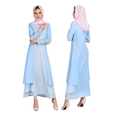 Eruption_X  Fashion Women's Summer Casual Loose Long Dress Swing Party Dress Blue by 🔥🔥 Eruption_X 🔥🔥 (Image #3)