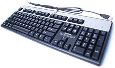HP 434821 – 032 – Teclado USB, Color Negro/Plata: Amazon.es ...