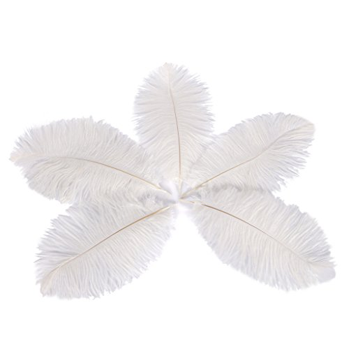 Wionya 50pcs Ostrich Feather Craft 6-8inch(15-20cm) Plume for Wedding Centerpieces Home (Great Gatsby Table Centerpieces)