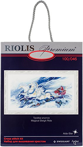 RIOLIS Premium 100/046 - Magical Sleigh Ride - Counted Cross Stitch Kit 21.75