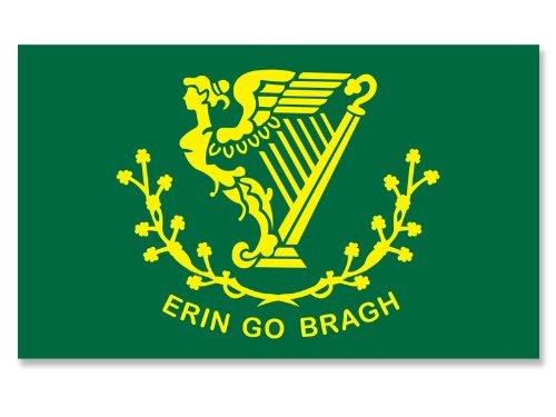 Erin Go Bragh Ireland Harp Flag Sticker (Irish)