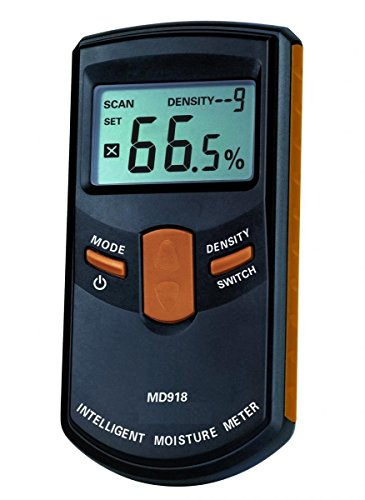 [Upgraded Version] Dr.meter MD918 Inductive Pinless Tools Intelligent Moisture Meter Digital Moisture Meter For Wood(Range 4% - 80% RH; Accuracy: 0.5%)