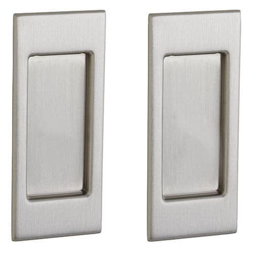 Baldwin PD006.PS Santa Monica Style Pocket Door Passage Trim Pair from the Estat, Lifetime Satin Nickel (Santa Trim)