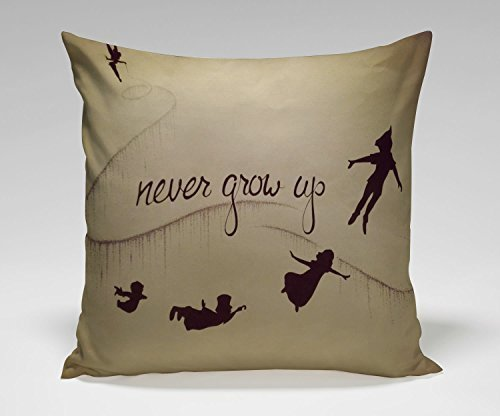 Fashion Pillowcases Narnia Maps Peter Pan Poster Pillow Case (18*18 inches two side) (Peter Pan Pillowcase compare prices)