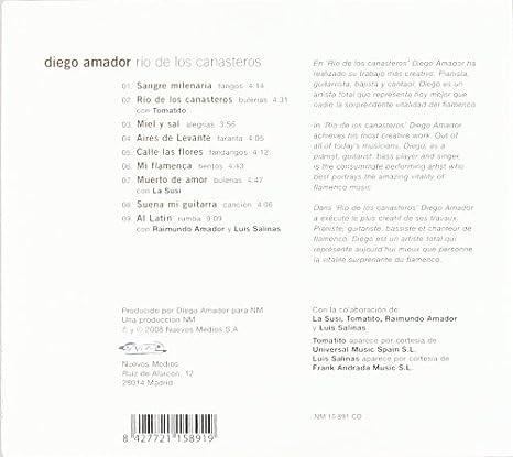 Rio De Los Canasteros: Diego Amador: Amazon.es: Música