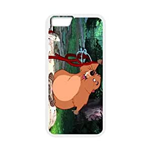 iPhone 6 Plus 5.5 Inch Cell Phone Case White Lady and the Tramp Character Beaver JUS