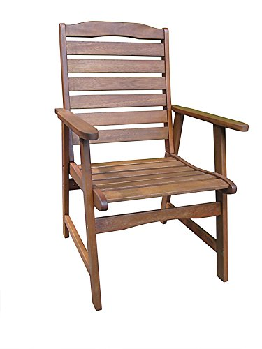 Pomegranate Solutions JUNIPER Outdoor Patio Eucalyptus High Back Chair by Pomegranate Solutions