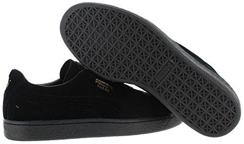 Puma Mens Camoscio Classico Ghiacciato Sneaker Nero-oro A Squadre