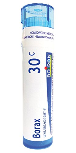 Boiron Borax 30C, 80 Pellets, Homeopathic Medicine for Canker Sores (Cold Sore In Corner Of Mouth Treatment)