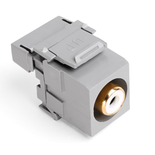 Leviton 40735-RWG QuickPort RCA 110-Type, White Barrel, Grey by Leviton