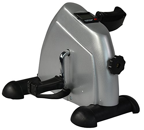 Stationary Cardio Fitness Mini Cycle Arm Leg Pedal Exercise Bike (Grey)