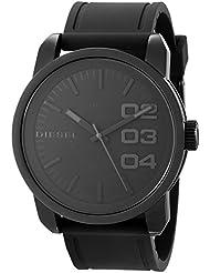 Diesel Mens DZ1446 Double Down  Black Ip Silicone Watch