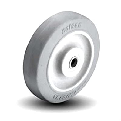 """Colson Non Marking Gray Performa Soft Rubber Wheel 5"""" x1-1/4"""" with Plain Bearing"""
