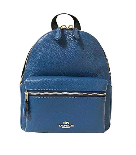 Coach Mini Charlie Pebble Leather Backpack (SV/Atlantic)