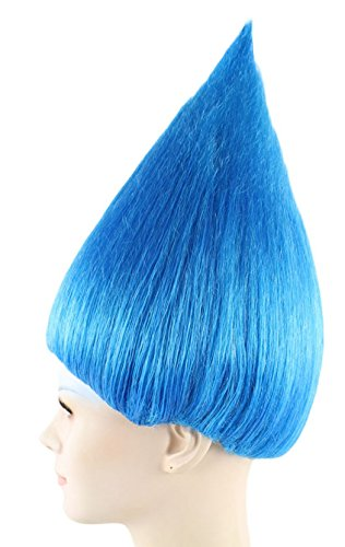 Trolls Wigs w/Wig Cap Cosplay Costume Party Halloween colorful Hairpiece For Men,Women