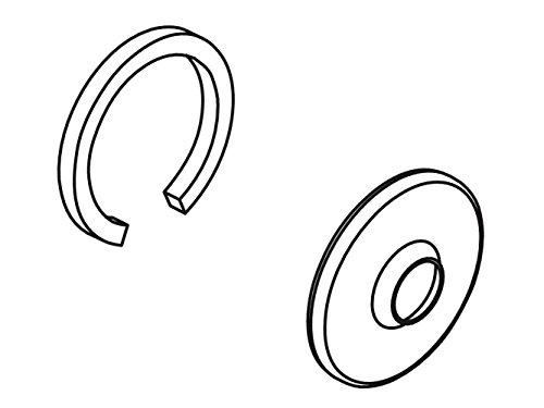 Kohler Escutcheon Assembly - KOHLER 1016455-BGD Part Escutcheon Assembly, Vibrant Moderne Brushed Gold