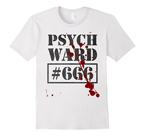 Ward Costume (Mens Psych Ward T-Shirt | Funny Prisoner Costume Inmate Vintage XL White)