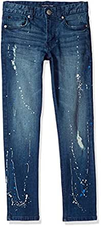 Calvin Klein Boys' Big Skinny Jeans, Medium Indigo, 10