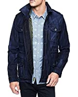 True Religion Mens Denim Military Jacket With Quilted Camo Vest Size Size L