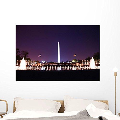 Washington Dc Wall Mural by Wallmonkeys Peel and Stick Graphic (48 in W x 32 in H) - Washington Mall Capital