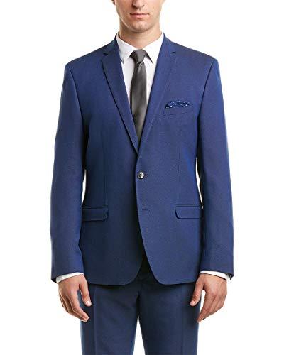 Nick Graham Men's Slim Fit Stretch Finished Bottom Suit, Blue Birdseye, 40R ()