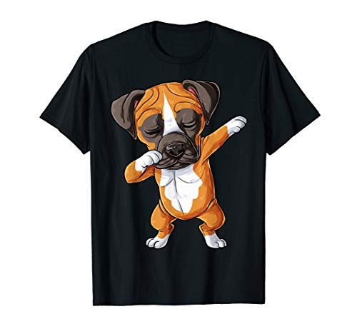 Dabbing Boxer T shirt Kids Boys Dog Puppy Lover Funny Dab -